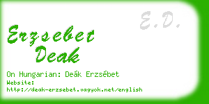 erzsebet deak business card